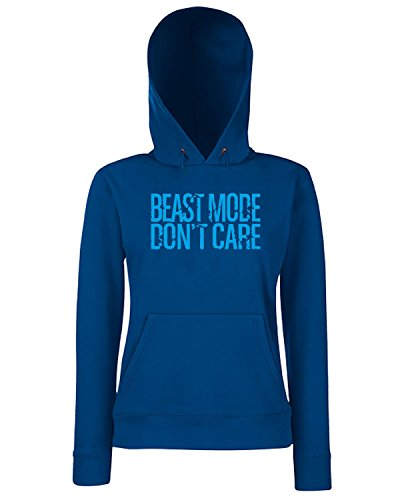 T-Shirtshock - Sweats a capuche Femme FUN0729 beast mode never sleeps long sleeve Bleu Navy