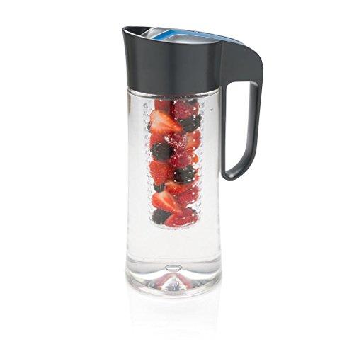 Liter Karaffe mit Einsatz - 100% BPA-frei für Wasser, Limonade, Apfelschorle, Früchte, Tee, Säfte und Eiswürfel ()
