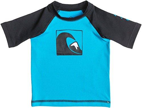 Quiksilver Main Peak-Maglietta a maniche corte, colore: blu oceano/Nero Multicolore