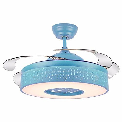 XHOPOS HOME Deckenventilatoren Stealth Schlafzimmer Wohnzimmer Stummschaltung Zimmer für Kinder blau 42