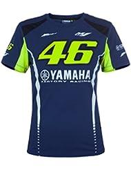 Valentino Rossi VR46 Moto GP M1 Yamaha Racing Mujer Camiseta Oficial 2017