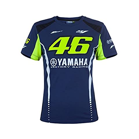 Valentino Rossi VR46 Moto GP M1 Yamaha Racing Femmes T-shirt Officiel 2017