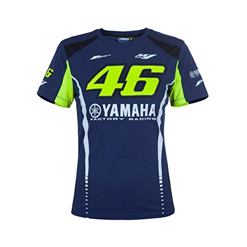 Valentino Rossi VR46 Moto GP M1 Yamaha Racing Damen T-shirt Offiziell 2017 (Damen Racing T-shirt)
