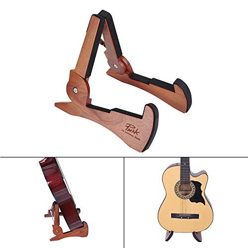 Mahagoni-halterung (Kalaok Universal Faltbare Gitarrenständer Halter Mahagoni Massivholz String Instrument Halterung Niedlichen Kaninchen Form für Elektrische Akustikgitarren Bass)