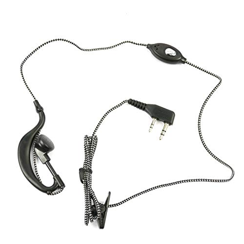 Baofeng Walkie Talkie Mic Headset Woven Cable K Type Earphone for UV-5R UV 5R UV-5RE UV-B5 BF-888S 888S UV-B5 (Original Product Sold by sEC-spydo Electronics Company Only)