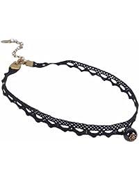 Elegante puntas Collar con Colgante de perlas en color | Tattoo Choker Cuello accesorio para mujer | Vintage Retro Collar Joyas | entrega gratuita