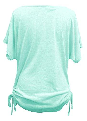 Emma & Giovanni - T-shirt Papillons Manche Courte - Femme Aqua