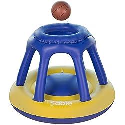 Sable aufblasbarer Basketballkorb 119 x 91 cm, Wasser Basketball Korb mit Ball, Aufblasbares Poolspielzeug Schwimmendes Poolspiel Kinder Schwimmbad & Strand Spaß