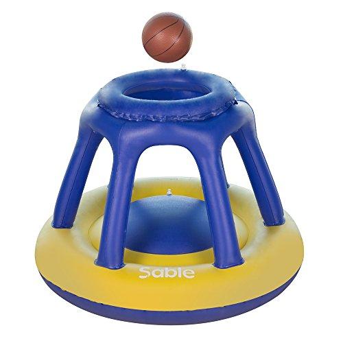 asketballkorb 119 x 91 cm, Wasser Basketball Korb mit Ball, Aufblasbares Poolspielzeug Schwimmendes Poolspiel Kinder Schwimmbad & Strand Spaß ()