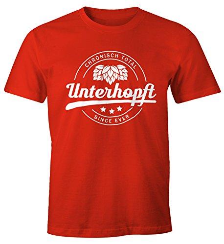 MoonWorks Chronisch Unterhopft Total Herren T-Shirt Since Ever Fun-Shirt rot L