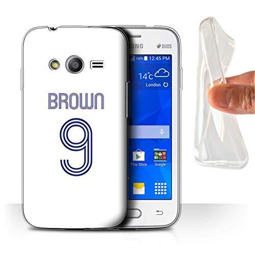 eSwish Personalizzato Kit Camicia Club Calcio Personalizzare Custodia/Cover Gel/TPU per Samsung Galaxy Trend 2 Lite/G318 / Bianco Blu Design/Iniziale/Nome/Testo Caso/Cassa