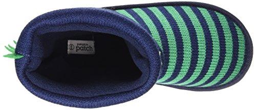 Pumpkin Patch Dinosaur Winter Warmer, Jungen Kurzschaft Stiefel Blau (Blue Night)