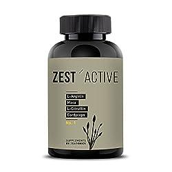 VERGLEICHSSIEGER 2019 bei ARGININ.DE: L-Arginin Base plus Citrullin (entspr. 2.400mg Arginin HCL) plus Maca Extrakt 680mg (entspr. 34.gr Maca Pulver) HOCHDOSIERT & Cordyceps sinensis - zest'active