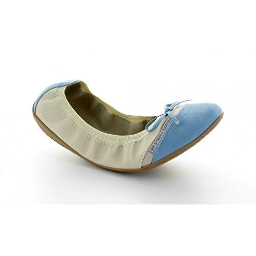Les P'tites Bombes ballerina Caprice, colore: beige/blu - blu