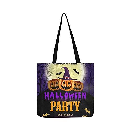 Braune Flyer (Halloween Party Flyer Kürbisse Leinwand Tote Handtasche Schultertasche Crossbody Taschen Geldbörsen Für Männer Und Frauen Einkaufstasche)