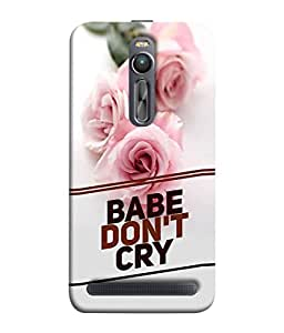 PrintVisa Designer Back Case Cover for Asus Zenfone 2 (Babe don't cry beautiful image)