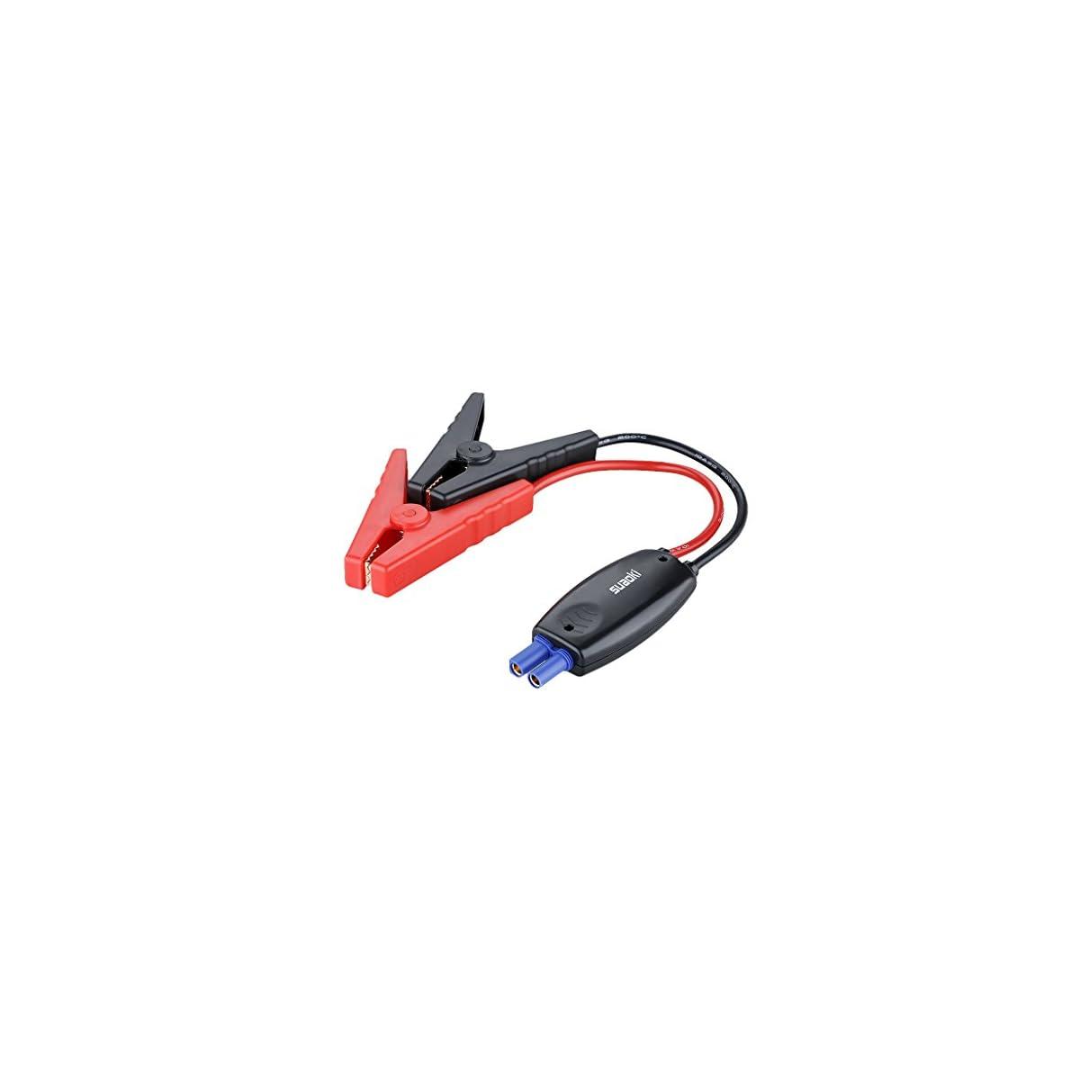41ifUWEgGwL. SS1200  - Suaoki 700resistentes pinzas inteligentes para recarga de batería, cables de arranque con pinzas de cocodrilo y enchufe inteligente EC5 de 12V para coches vehículos