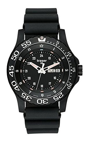 traser H3 P 6600 Elite Red Sapphire Watch | Rubber Strap - Black