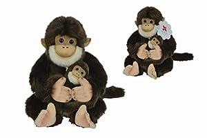 NICOTOY-Mono Sentado con bebé Peluche, 5820294