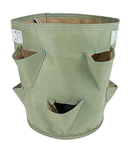 BloemBagz pot Fraise: Un pot de tissu pour vos Fraise avec 8 poches latérales Couleur: Living Green