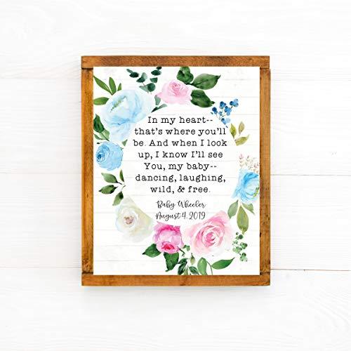 Rea66de Miscarriage Gifts Miscarriage Gedicht Fehlgeburte Andenken Personalisierte Fehlgeburte Geschenk Stillborn Baby Geschenk christliches Mitgefühl Geschenk