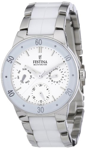 Festina Ladies Multi-Function Watch F16530/1 With White Ceramic Inlay