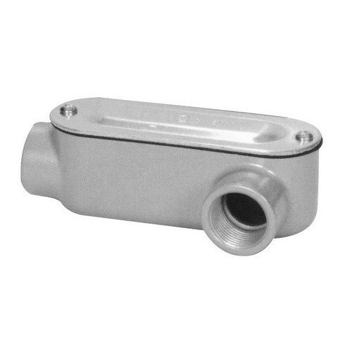 Morris 14113 Rigid Conduit Body, Aluminum, Type LL, Threaded with Cover and Gasket, 1-1/4 Thread Size by Morris -