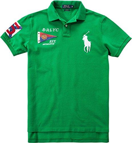 Preisvergleich Produktbild Polo Ralph Lauren Herren Polo-Shirt Baumwolle & Mix T-Shirt, Größe: S, Farbe: Grün