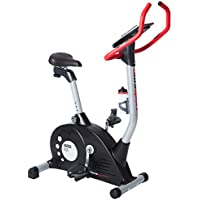 Ultrasport Bicicleta estática Racer 600 con sensores de pulso de mano / ergómetro con consola y