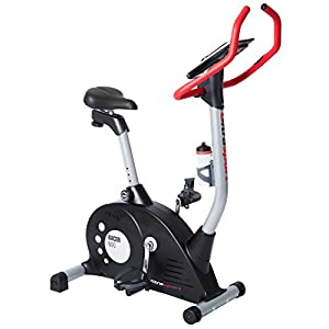 Ultrasport Heimtrainer Racer 600 mit Handpuls-Sensoren und Computer, Fahrradtrainer, Fitnessfahrrad, Fitnessbike,16 Widerstandsstufen, für bis zu 150 kg