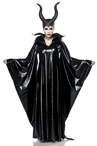 Sexy 2 teiliges Maleficent Lady Kostüm mit Maske Damenkostüm Malefiz Märchen Fee Böse Karneval Fasching Set Komplettset Wetlook