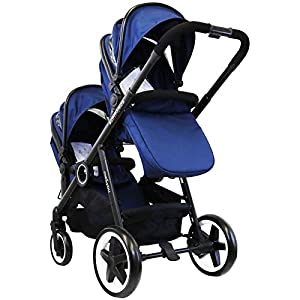 iSafe Me&You Inline Tandem Travel System with Second Seat & Rain Cover - Royal Blue   11