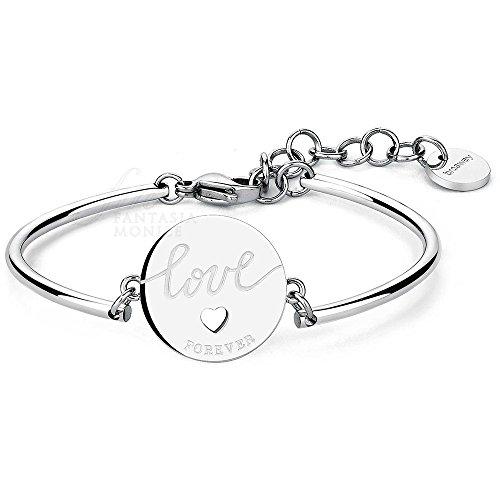 Bracciale brosway chakra cuore love forever significato promessa acciaio donna bhk35