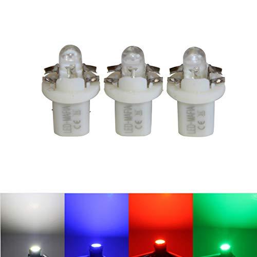 LED-Mafia® Lot de 3 éclairages Ronds avec Cabine Blanc/Bleu/Rouge