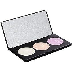 Makeup Revolution Highlighting Powder Palette Highlight Paleta rozświetlaczy do twarzy 15g