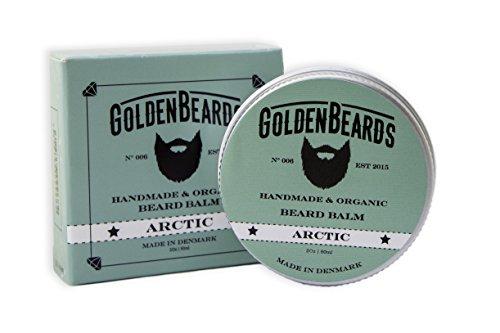 Bio Bart Balsam - Arctic- 60ML | 100% Natürlich | Jojoba & Argan & Aprikose Öl + Pfefferminze, Orangen, Teebaum