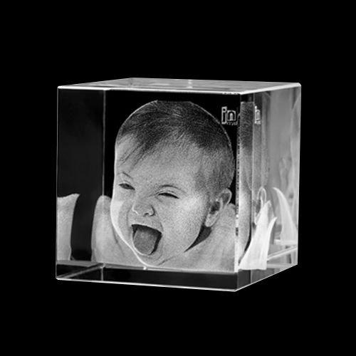 3D Foto Kristall Cube (Glas-briefbeschwerer Für Fotos)