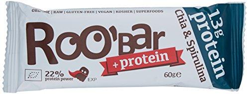 Roobar protein chia und spirulina, 6er Pack (6 x 60 g) (Nektar-protein-getränke)