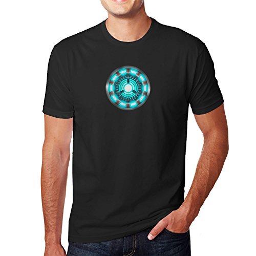 Arc Reactor - Herren T-Shirt, Größe: S, Farbe: schwarz