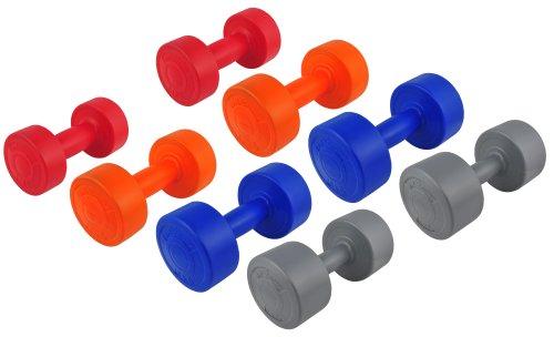 20 Kg (2x1, 2x2, 2x3, 2x4) Kunststoff-ummantelte Gymnastikhanteln / Fausthanteln / Rundhanteln