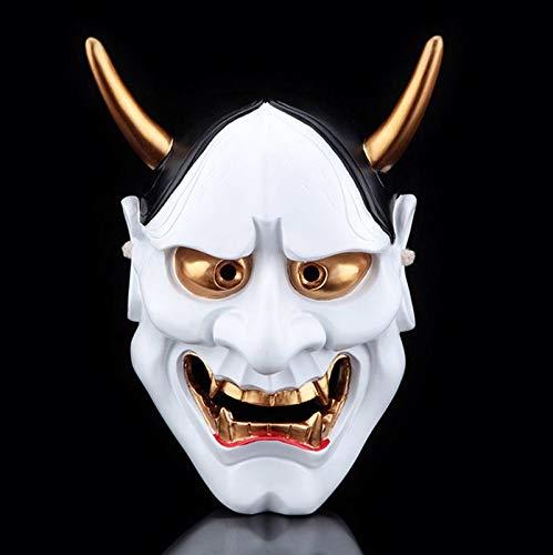 ke Horror-Harz Prajna Maske Yin Und Yang Master Requisiten White Ghost Tempel Ghost Head Dekorative Maske,White ()