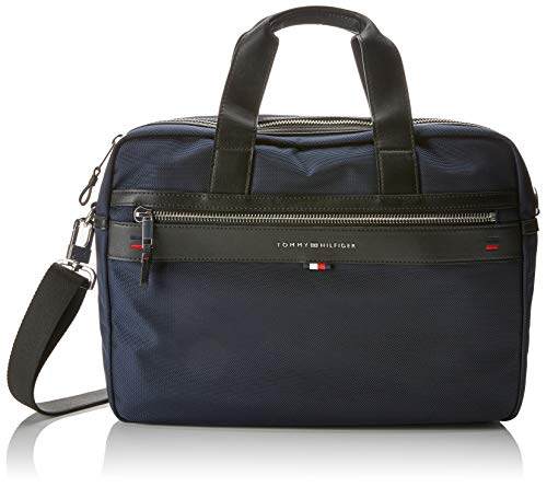Tommy Hilfiger Herren Elevated Computer Bag Laptop Tasche, Blau Navy/Core STP, 9.5x30x40 cm