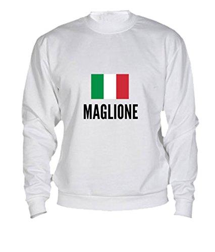 Felpa Maglione city White