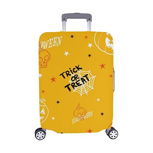 (Nur abdecken) Halloween-Kürbis-Spandex-Staubschutz Trolley Protector case Reise-Gepäck-Schutzkoffer-Abdeckung 28,5 X 20,5 Zoll