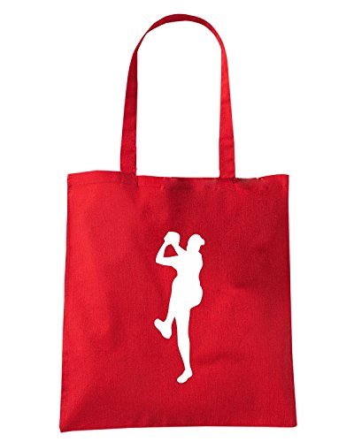 T-Shirtshock - Borsa Shopping SP0014 Baseball Pitcher Maglietta1 Rosso