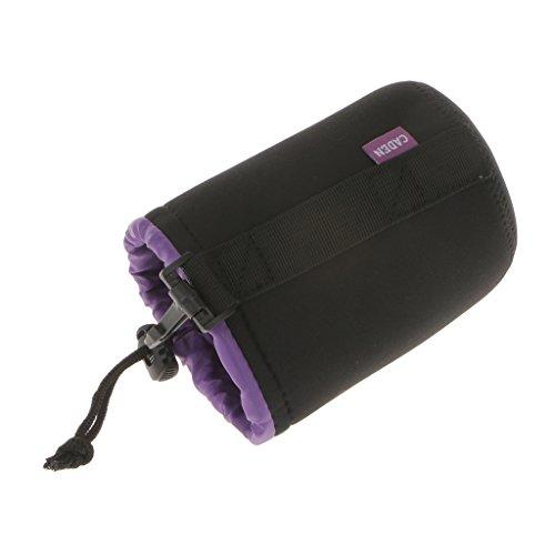 MagiDeal Custodie Morbida Borsa Protezione Sacchetto per Lenti Fotocamere Fotografica DSLR Impermeabile Universale - M