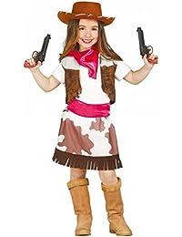 Kostüm Cowgirl Stella Gr. 110- 152Mädchen Cowboyweste Rock Kinderfasching (10- 12 Jahre (Gr. 140- 152))