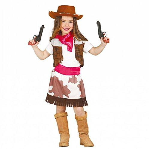 Kostüm Cowgirl Stella Gr. 110- 152Mädchen Cowboyweste Rock Kinderfasching (10- 12 Jahre (Gr. 140- 152)) (Guirca Kostüme)
