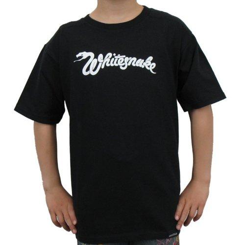 Whitesnake-Logo T-shirt bambini band, Nero, Unisex, WHITESNAKE - LOGO Kinder-Shirt, Größe 92/98, nero, 92 / 98