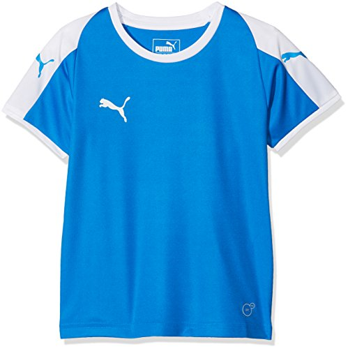Puma Kinder Liga Jersey, Electric Blue Lemonade/White, 116